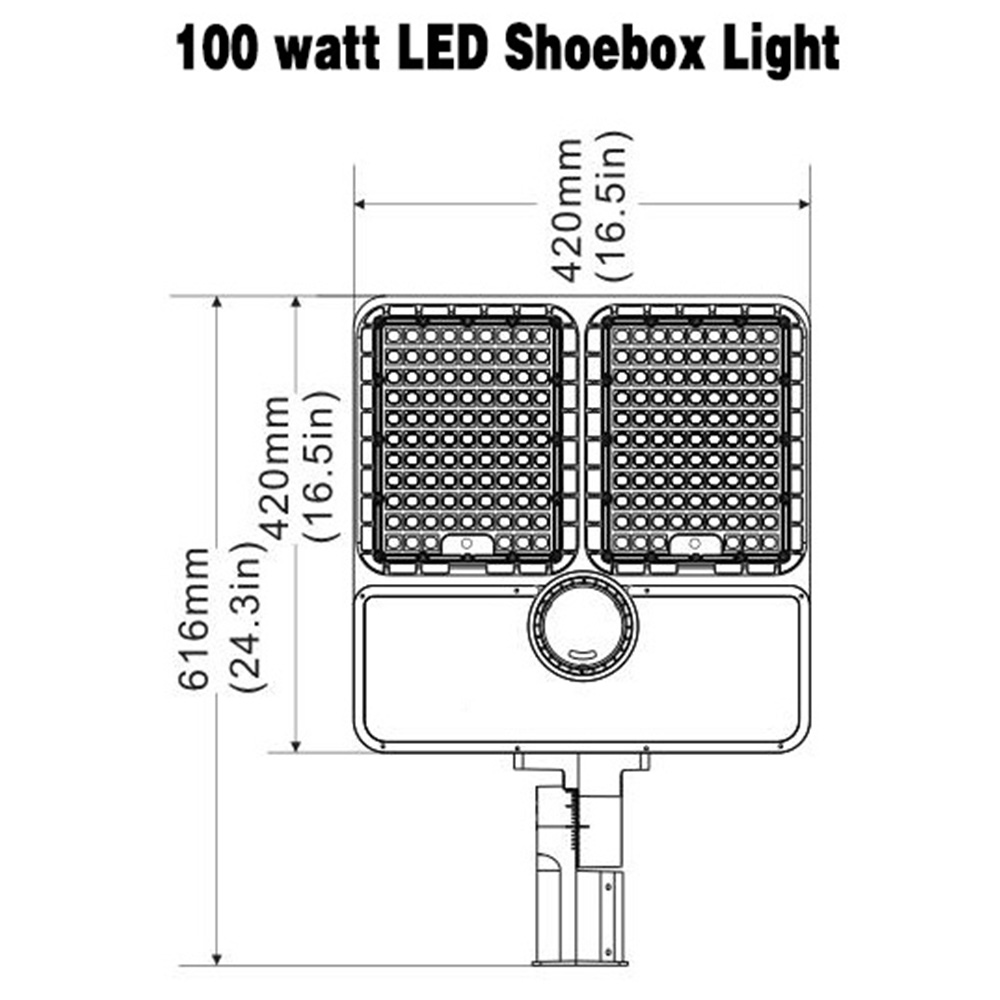 320 Watt Led Shoebox Light 39000lm 5000k Okaybulb