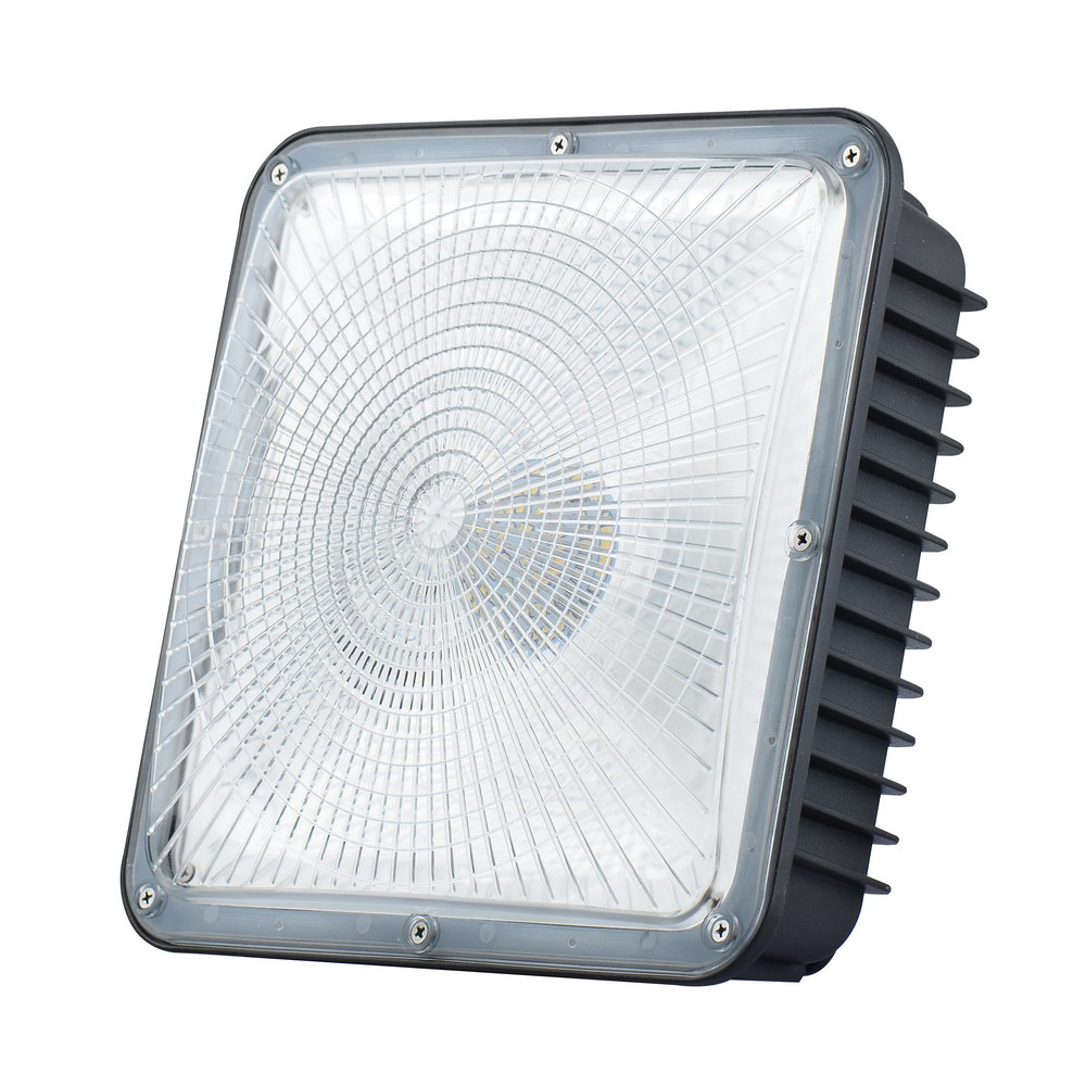 Led Canopy Light Fixtures 80w White Frame Okaybulb