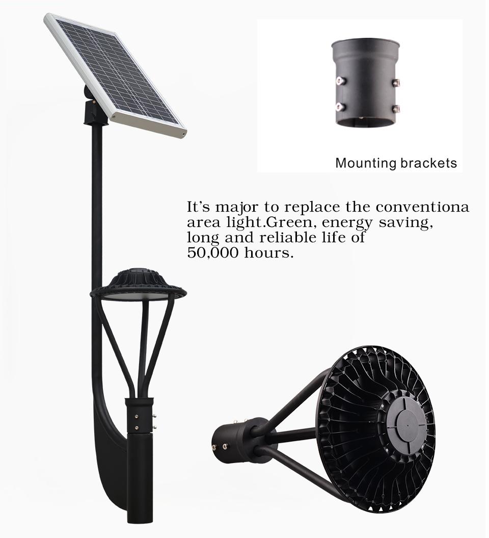 30w 3900 Lumens Solar Post Top Led Area Light