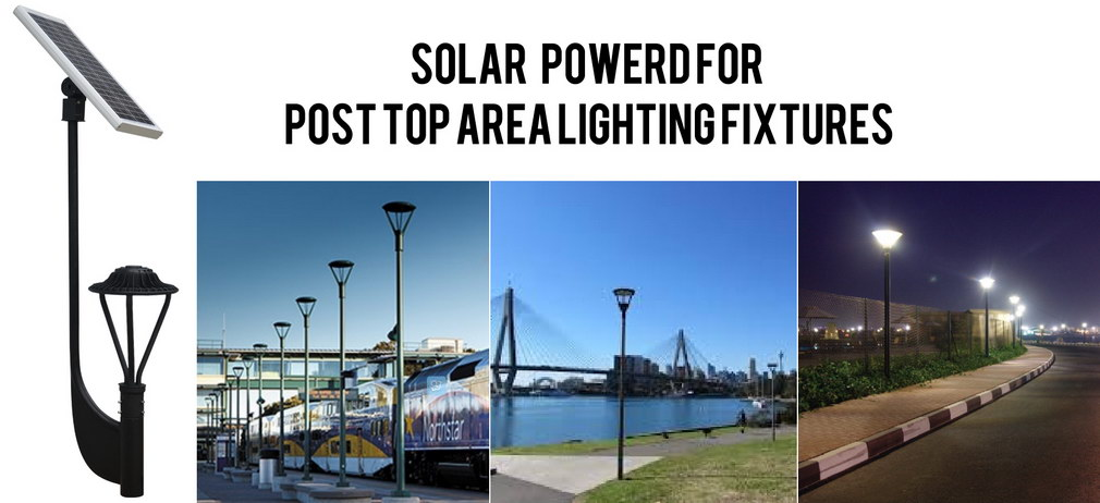 30w 3900 Lumens Solar Post Top Led Area Light Okaybulb