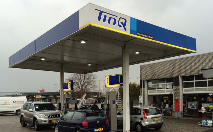 LED Type B LED Gas Station Canopy Lights Project in Netherlands