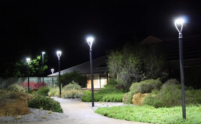 Garden Yard LED Post Top Lights Application In Australia
