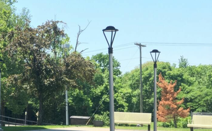 LED Post Top Area light 75W applied in Love Towers