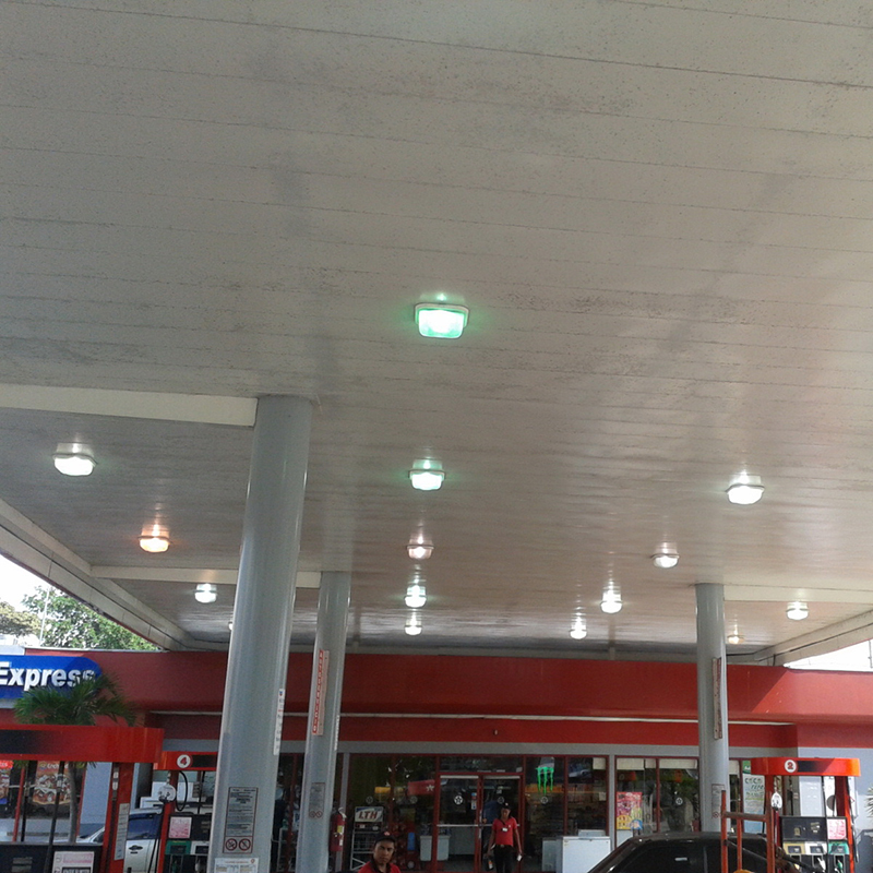 75watt 5000k Led Canopy Lights Outdoor Gas Station Okaybulb