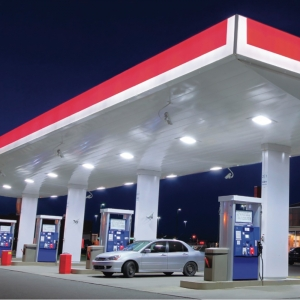 60w Led Canopy Lights Outdoor Gas Station 5000k Okaybulb